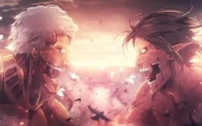 Картинка monster, anime, fight, asian, giant, manga, japanese, asiatic, Shingeki no Kyojin, Attack On Titan, shounen, …