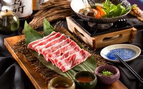 Картинка мясо, овощи, соус
