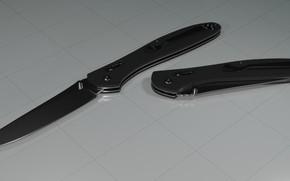 Картинка сталь, черный, модель, нож, пластик, ганзо, выкидной, ganzo