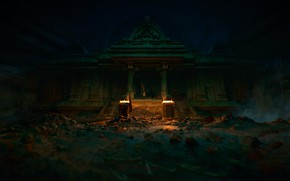 Картинка Fire, Uncharted: The Lost Legacy, Ancient place