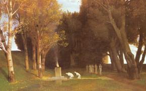 Картинка 1886, Арнольд Бёклин, Священный лес