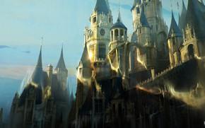 Картинка замок, стены, башни, архитектура, Beauty and the Beast
