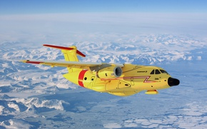 Обои самолёт, KC-390, Embraer, средней, транспортный, дальности, двухмоторный