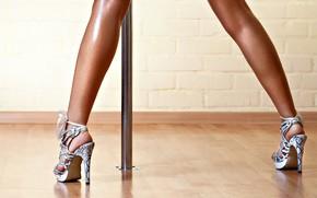 Картинка шест, высокие каблуки, стриптизерша
