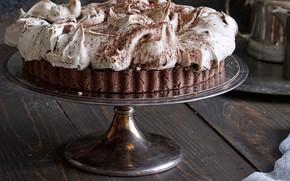 Картинка десерт, шоколадный, безе, тарт