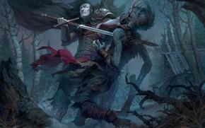 Картинка меч, воин, зомби, Андрей Кузинский, Принц Мстислав