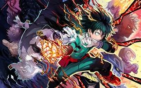 Картинка аниме, арт, герой, парень, Boku no Hero Academia, Моя геройская академия
