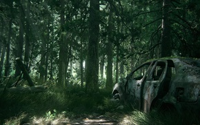 Картинка car, game, tree, The Last of Us, vegetation, The Last of Us Part 2