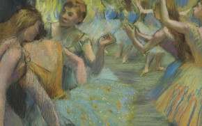 Картинка картина, балерина, танцовщица, Балет, Эдгар Дега, Edgar Degas