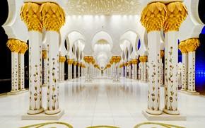 Картинка колонны, архитектура, ОАЭ, Мечеть шейха Зайда, Абу-Даби