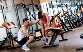 Картинка men, female, workout, gym