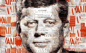 Обои США, Fitzgerald, 35-й президент, Джон, Kennedy, John, Кеннеди, JFK, мозаика, Фицджеральд