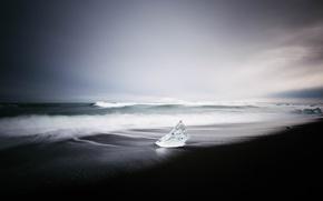 Картинка море, пляж, лёд, Исландия