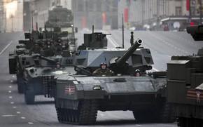 Картинка Russia, army, tank, armored, Russian, military vehicle, armored vehicle, Т-14 ''Армата'', T-14, T-14 Armata