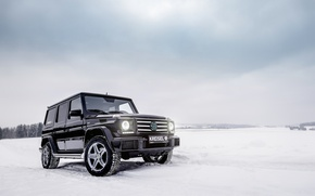 Обои мерседес, G-Class, зима, внедоржник, Mercedes-Benz, гелендваген, W463