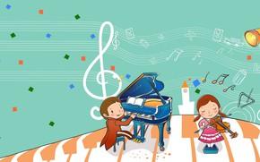 Картинка ноты, музыка, вектор, music, арт, концерт, детская