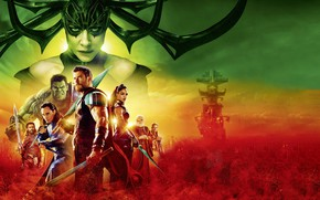 Обои Jeff Goldblum, Hela, Tessa Thompson, God, Thor: Ragnarok, Thor 3, Odin, Grandmaster, Heimdall, Asgardian, Idris ...