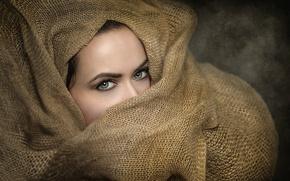 Картинка взгляд, макияж, мешковина, Joachim Bergauer