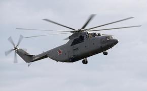 Картинка вертолёт, тяжелый, Ми-26, транспортно-десантный