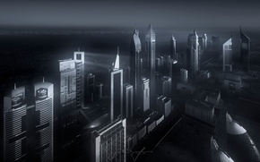 Картинка город, Дубай, высотки, ОАЭ