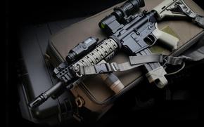 Картинка gun, weapon, assault rifle, LaRue, M4 Carbin, LaRue M4