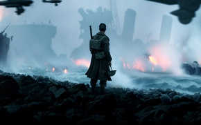 Картинка cinema, fire, flame, gun, weapon, war, man, movie, film, helmet, spark, seifuku, unifor, Dunkirk