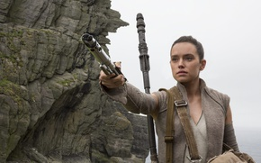 Обои Daisy Ridley, jedi, Star Wars: The Last Jedi, Star Wars Episode VIII, Star Wars 8, ...