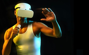 Картинка man, Xiao Virtual Reality, MI VR, VR Headset, Xiaomi VR Virtual Reality 3D Glasses