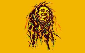 Обои регги, Боб Марли, low poly, музыка, Bob Marley