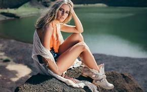 Картинка шорты, ножки, David Olkarny, Green lagoon