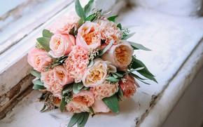 Картинка цветы, розовый, букет, pink, flowers, пионы, bouquet, peonies