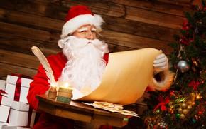 Картинка письмо, праздник, елка, новый год, подарки, дед Мороз