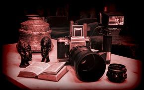 Картинка фотоаппарат, Carl Zeiss optics, Sunpak, Pentacon six tl