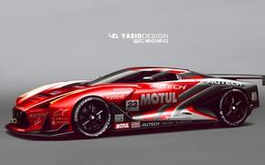 Картинка Авто, Рисунок, Машина, Nissan, Арт, Art, Суперкар, Yasid Design, Yasid Oozeear, YASIDDESIGN, GT2020, GT 2020, …