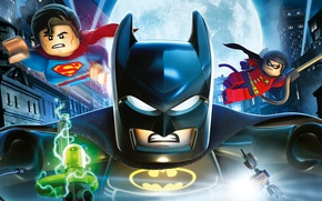 Картинка moon, toy, Batman, weapon, movie, bat, Lego, Robin, Superman, film, mask, animated film, Bruce Wayne, …