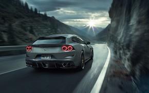 Картинка пасмурно, Ferrari, вид сзади, Novitec Rosso, 2017, GTC4Lusso