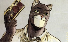 Картинка кот, арт, cat, art, detective, иллюстрация, comics, animal, illustration, blacksad