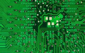 Картинка макро, фон, computer circuit board