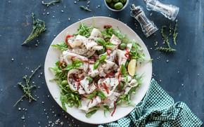 Картинка зелень, оливки, закуска, Салат