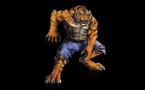 Картинка тигр, хищник, мышцы