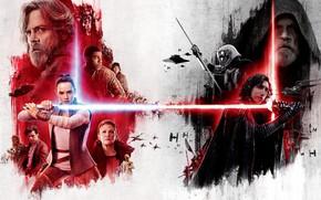 Обои Звёздные войны: Последние джедаи, постер, фантастика, Star Wars: The Last Jedi