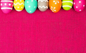 Картинка colorful, Пасха, spring, Easter, eggs, decoration, Happy, frame, яйца крашеные