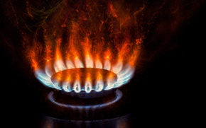 Картинка огонь, комфорка, Gas, Burner
