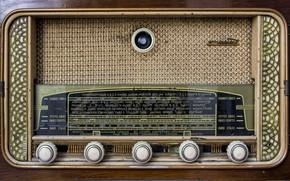 Обои ламповый, пиёмник, радио