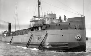 Картинка ретро, корабль, пароход, США