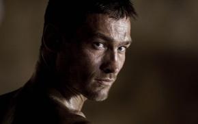 Картинка взгляд, лицо, Spartacus, Andy Whitfield