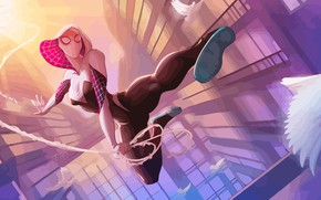 Обои Солнце, Паутина, Птица, Костюм, Герой, Маска, Комикс, Капюшон, Супергерой, Hero, Арт, Art, Web, Sun, Marvel, ...