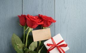 Картинка букет, red, romantic, Valentine's Day, gift, roses, красные розы