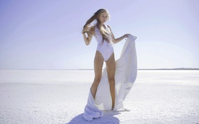 Картинка купальник, пустыня, модель, блондинка, боди, Milena d