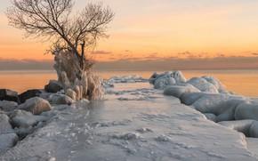 Картинка озеро, лёд, мороз